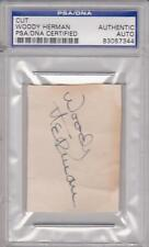 Circa 1942 Woody Herman Big Band Leader Autograph - Psa/Dna Authentic