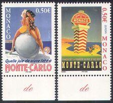 MONACO 2004 EUROPA/LES VACANCES/TOURISME/affiches/ART/Monte Carlo/Femmes 2 V Set n38477