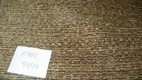 Brown Beige Stria Chenille Upholstery Fabric Remnant  F982