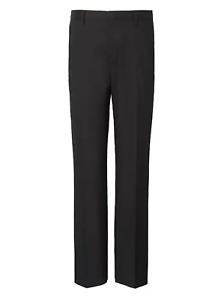 Banana Republic Slim Solid Non-Iron Stretch Pant Black Size 35 X 30 #795787