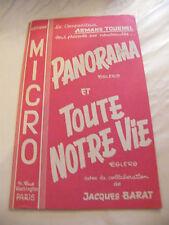 Partition Panorama e qualsiasi notre vita Jacques Boccato Armando Tournel 1961