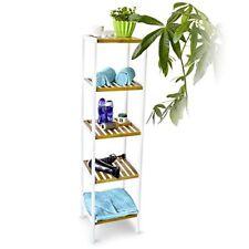 Librerías y estanterías estantes blancos de bambú para el hogar