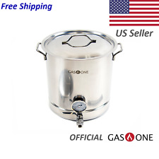 GasOne 16 Gallon Stainless Steel Home Brew Kettle Pot Set