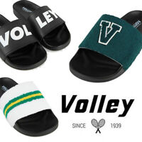 VOLLEY POOL SLIDES Mens Volleys Black White Green Gold Shoes Sandals Thongs