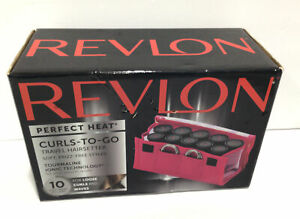 Revlon Perfect Heat Curls-To-Go Travel Hairsetter, Tourmaline Technology in Box,