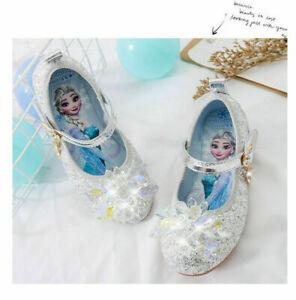 ELSA Kids Girls Elsa Princess Fancy Party Sequin Acrylic Crystal Elsa Shoes