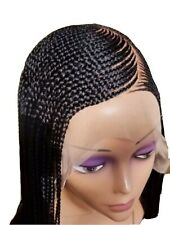 """Handmade cornrow Ghana weave 30"""" Braided Wig Lace Frontal. Color 33 & Color 1"""