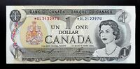 1973 Bank of Canada $1 Lawson & Bouey Rare Replacement Note *OL 2122974 BC-46aA
