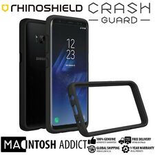 RhinoShield CrashGuard 3.3M Drop Protection Bumper Case For Galaxy S8+ BLACK