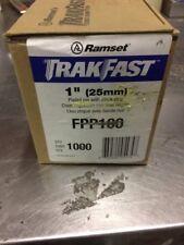 "Ramset .109"" Dia x 1"" Length x 0.250"" Head Plated Trackfast Pin Pack FPP100"
