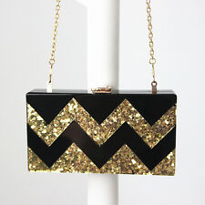 Women Acrylic Clutch Evening Bag Chain handbag Purse Tote