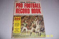 1968 pro Fútbol Record Libro Nueva York Jets Namath 300 de Foto Sonny Jurgensen