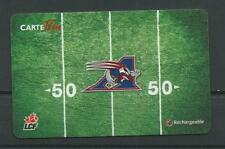 Reloadable Tim Horton's Gift French Card ! CFL Montreal Alouettes !