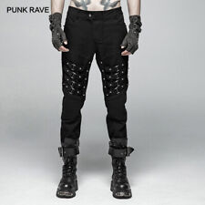 Punk Rock Men's Heavy Metal Trousers Black Gothic Personality Black Long Pants