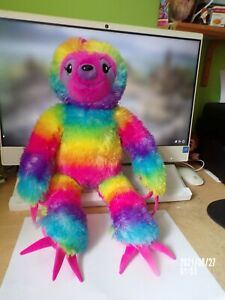 """Build A Bear Rainbow Sloth Plush 18"""""""