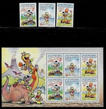 SLOVENIA Sc 322-24+324a NH SET+MINISHEET of 1998 - COMIC STRIP CHARACTERS