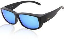 Duco POLARISED OVERGLASSES Wraparound Fit Over Glasses For Myopia 8956 (Black