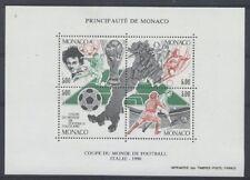 MONACO bloc 50 - COUPE DU MONDE DE FOOTBALL de 1990 ** NEUF LUXE