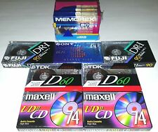 11 SEALED TAPE CASSETTE MEMOREX FUJI TDK SONY MAXELL Audiophile player boombox