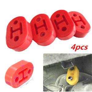 Diameter 11mm 2 Holes Car Rubber Exhaust Tail Pipe Brackets Hanger Insulator Red
