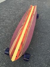 Paradise Cove - Exotic Wood Longboard 39x9 with a kicktail