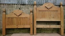 Solid Chunky Ash / Maple / Hickory Headboard & Footboard for 3 Foot Single Bed