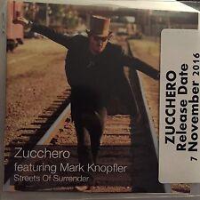 """ZUCCHERO FT MARK KNOPFLER 'STREETS OF SURRENDER"""" NEW 1 TRACK CD PROMO"""