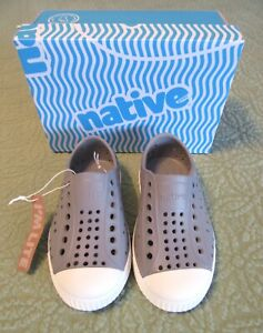 NATIVE Pigeon Gray Jefferson Lightweight Breathable Rubber Shoes C8 NIB