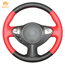 Black Red Leather Wheel Cover for Infiniti FX35 FX37 Nissan Juke Maxima Sentra