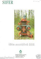 Equipment Brochure - Sifer - 325 Tete Combine Processor Logging French (E2091)