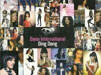 DANA INTERNATIONAL DING DONG EUROVISION RARE CD SINGLE ISRAEL ISRAELI PROMO ONLY