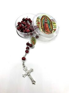 12 BAPTISM Party Favors wood rosary Recuerdos de Bautizo Rosarios De Madera