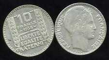 FRANCE  FRANCIA 10 francs  1938  TURIN        ARGENT  SILVER