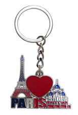Key ring, bag charm, Tour Eiffel and sacred heart, France, Paris. C3