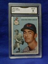 1954 TOPPS#107 DUANE PILLETTE CARD BEEN GRADE BY GMA 8 NM-MT GREAT CARD