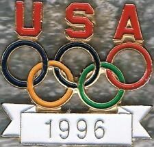 1996 Atlanta Dated Cut-Out USA Olympic NOC Collector Pin