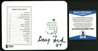 Doug Ford signed autograph Augusta National Golf Club Masters Scorecard BAS