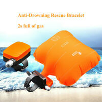 Portable Swimming Lifesaving Wristband Device Floating Anti-Drowning Inflatable