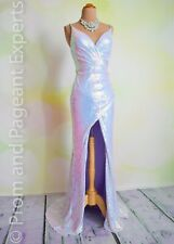 """Sequin PROM 2020 EVENING PAGEANT FORMAL BALL GALA DRESS WEDDING GOWN 4 """"Opaline"""""""
