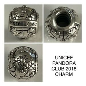 PANDORA LIMITES EDITION 2018 CLUB CHARM REF 796602D S925 ALE DISCONTINUED