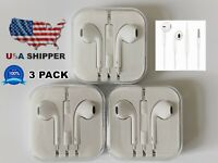 3x For EarPods 🍎 iPhone Headset w/ Mic & Remote Brand New 3.5mm 🎧 Headphones