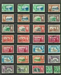 TRINIDAD TOBAGO Stamp COLLECTION George VI MINT USED REF:QV876a
