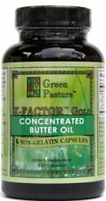 Green Pasture X-Factor Gold Concentrated Butter Oil  High Vitamin 120 Capsules