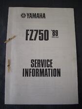 YAMAHA FZ 750 2 MG 1989 service d'information Atelier Manuel informations