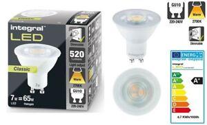 GU10 LED Classic Light Bulb 7W eq to 65W 2700K, 520-Lumens DIMMABLE.
