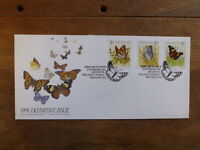 NEW ZEALAND 1991 DEFINITIVE BUTTERFLIES SET 3 STAMPS FDC FIRST DAY COVER