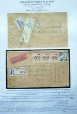 JAPANESE OCCUPATION OF MALAYA 1945 REG. COVER FROM TAIPING, PERAK TO SINGAPORE