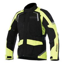 Blousons jaunes textiles ajustable pour motocyclette