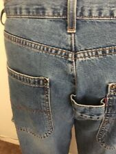 "RARE Levis RED tab Jeans Carpenter Utility  ""RIVETS BACK POCKETS"" (36 x 32) USA"