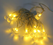 Lichterkette Tropfen 15 LEDs warm - weiß Gelb